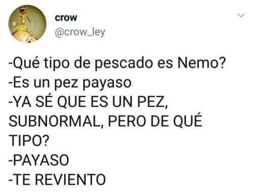 Nemo Es Un Pez Payaso Porque Soy Más Cuadro Que Marco
